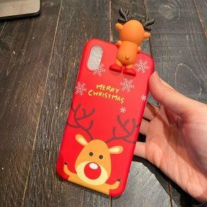 merry christmas reindeer phone case